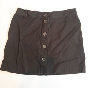 J. Crew Brown Button Up Mini Skirt